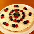 Hina's birthday cheese cake