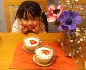 桃のレアチーズとコト